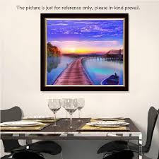 amazon com anself diy handmade diamond painting set cabin lake