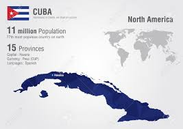 Cuba On A World Map Map Cuba World Map With A Pixel Diamond Texture World Geography