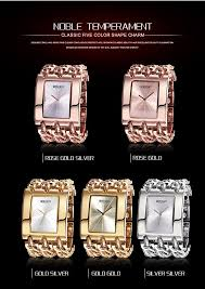 gold ladies bracelet watches images Weiqin women gold silver square dial bangle watch quartz ladies jpg