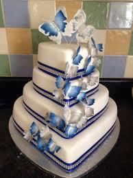 wedding cake royal blue royal blue and silver heart wedding cake wedding cake ideas