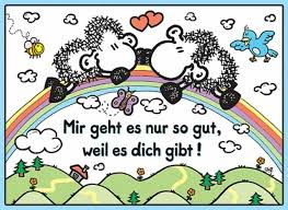 ohne dich ist alles doof spr che only because of you liebe sheepworld tatty teddy