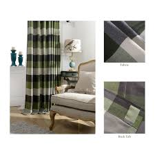 Chezmoi Collection Curtains by Amazon Com Skyler By Chezmoi Collection Plaid Traditional Back