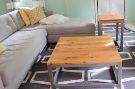 How To Build End Table Plans by Remodelaholic Build A Modern Coffee Table And Matching End Tables