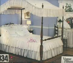 Vintage Canopy Bed Vogue 2334 Canopy Bed With Curtains Pillows Table Cover