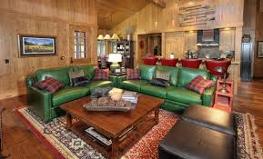 Decorating With Leather Furniture Living Room Green Sofa Design Ideas Pictures For Living Room