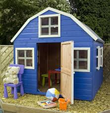 garden exciting image of blue wooden shed cool playhouse for kid