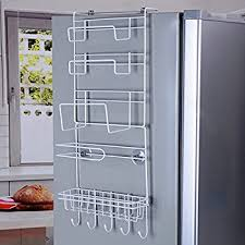 amazon com mylifeunit refrigerator side storage rack for kitchen