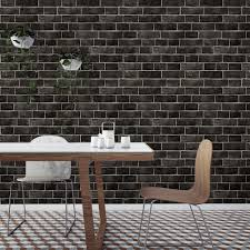 Removable Wallpaper Tiles by Black And Grey Textured Brick Industrial Loft Removable Wallpaper