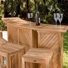 teak bar and backless bar stool set outdoor bar sets outdoor