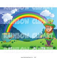 royalty free pot of gold stock rainbow designs