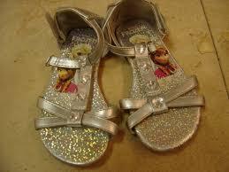 disney frozen size toddler girls 8 silver sandals enkore kids