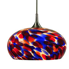 multi colored light fixture hand blown glass led hanging light multi color swirl products