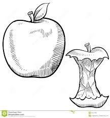 image gallery of half eaten apple drawing