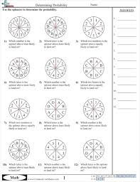 probability worksheets math pinterest worksheets math and