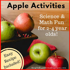 apple activities science and math fun for 2 4 year olds easy