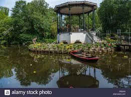 flower garden in amsterdam amsterdam holland the netherlands tulip flower garden on pond