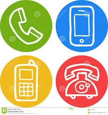 doodle phone icon stock vector image 66716334