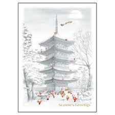 greeting life japanese style mini santa christmas card sj 45