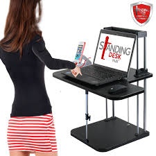 Stand Sit Desk by Sit Stand Desk Converter Workstation 2 Tier C7 Standing Desk Hub