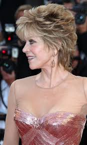 bing hairstyles for women over 60 jane fonda with shag haircut jane fonda mixed colour deluxe lovely short wavy 100 real human