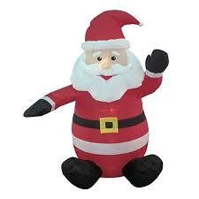 4 foot santa claus up yard