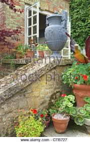 ornamental garden wall stock photo royalty free image