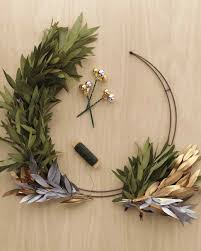 Halloween Picks For Wreaths by Metallic Wreath Martha Stewart