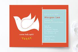 confirmation invitations come holy spirit confirmation invitations by m p minted