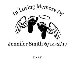 in memory baby footprints wings decal white on storenvy