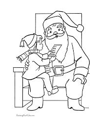 free santa claus coloring sheets kid santa u0027s lap