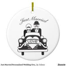 married personalized wedding ornament lgbt