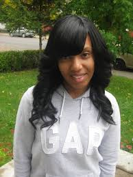 sew in weaves with bangs quick weave hairstyles with side bangs straight side hairstyles