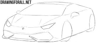 lamborghini car drawing how to draw a sports car by drawingforall