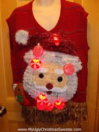 Ugly Christmas Sweater With Lights Funny Ugly Christmas Sweater With Lights And Music 3d