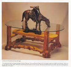 mountain sierra coffee table ottoman with cedar legs small western