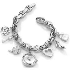 anne klein charm bracelet watches images Anne klein silver tone charm bracelet watch for jpg