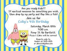 spongebob party invite free free printables parties