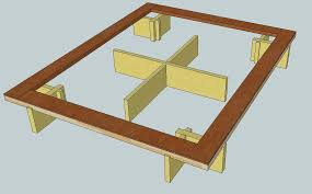 Making A Wooden Bed Platform by Bed Frame Diy Wood Bed Frame With Storage Pallet Bed Frame Diy