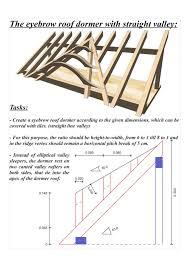 Dormer Roof Design Roof Framing Geometry Fledermausgaube Mit Gerader Kehle