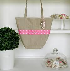 créations d u0027antan french tote bag shabby chic candy dot ribbon