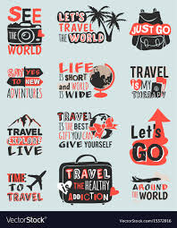 travel phrases images Travel motivation text quote phrases badge vector image jpg