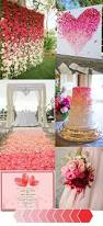 how to make your wedding color unique in an ombré theme red