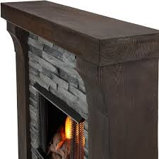 real flame avondale 48 inch gel fireplace with mantel gray