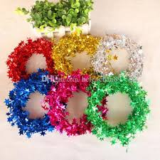 7 5m length tree colorful wreaths decorations