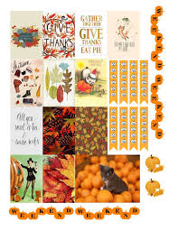 free printable thanksgiving planners stickers from