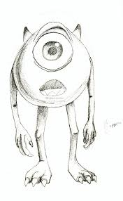 mike wazowski drawing iheaz deviantart