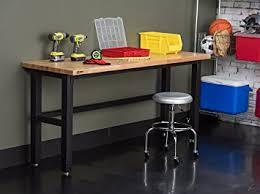 wood top work table amazon com trinity tls 7203 wood top work table 72 x 24 black