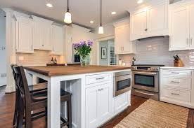 creative cabinets and design white island with built in microwave drawer decorative legs and