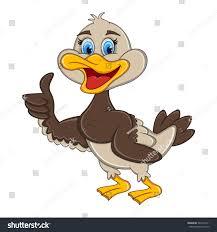 duck giving thumbs cartoon vector illustration stock vector