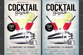 cocktail party flyer template flyer templates creative market